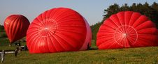 Free Three Red Hot Air Balloons Royalty Free Stock Image - 9982596