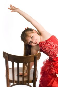 Free Girl With Chair Royalty Free Stock Photography - 9984977