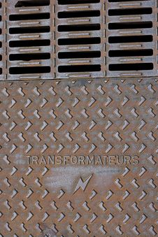 Free Transformer Street Plate Stock Photography - 9985152