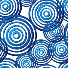 Free Seamless Blue Ring Pattern Royalty Free Stock Photography - 9985317
