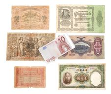 Free Ten Euro On Background Of The Old Bills Stock Photo - 9985640