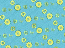 Free Blue Floral Pattern Royalty Free Stock Photos - 9986198