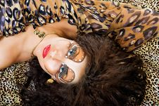 Free Tiger Woman Face Royalty Free Stock Image - 9986596