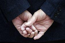 Crossed Fingers Stock Photo