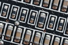 Microcircuit Board. Royalty Free Stock Photography