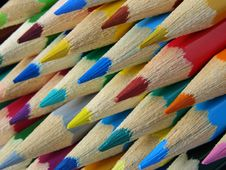 Free Color Pencils Royalty Free Stock Photos - 9987418