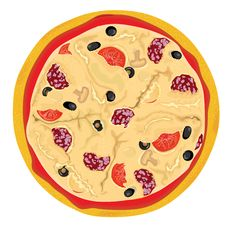 Free Vector High Detailed Pizza Royalty Free Stock Photography - 9988037
