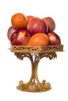Apples And Mandarins Stock Photos