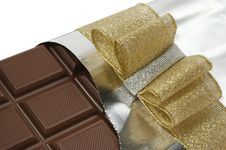 сhocolate And Bow Royalty Free Stock Image