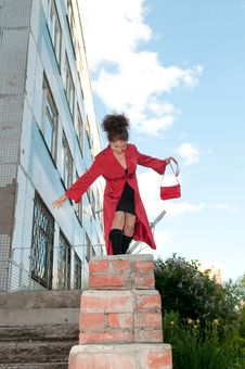 Free A Girl Upstairs Royalty Free Stock Photos - 9988278
