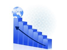 Free Illustration Of Blue Business Graph Stock Images - 9988434
