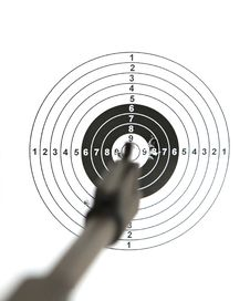 Pistol And  Target Royalty Free Stock Photos