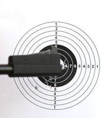 Pistol And  Target Stock Photos