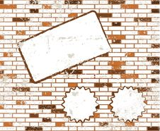 Sticky Note On T Dirty Brick Wall Raster Royalty Free Stock Photos