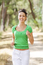 Free Running In Green Forest Royalty Free Stock Photography - 9990937