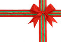 Free Red And Green Ribbon And Bow Stock Photo - 9999520