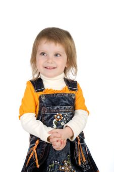 Free Well-dressed Small Girl Royalty Free Stock Photo - 9990605