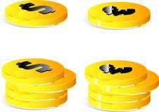 Free Golden Coins Set Stock Photos - 9991233