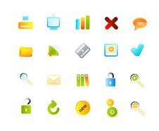 Free Vector Icons Set Royalty Free Stock Images - 9991239