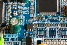 Free Motherboard Royalty Free Stock Image - 9991776