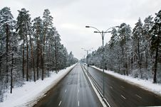 Free Winter Highway Stock Photos - 9992163