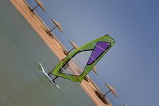 Free Windsurfing Stock Image - 9992371