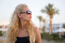 Free Summer Shot Of A Girl With Sun Glasses Stock Image - 9992441