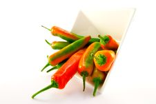 Free White Bowl Of Chillis Stock Photography - 9992512