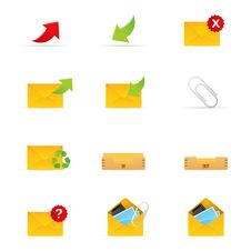 Mail Icon Set 1 Royalty Free Stock Photo