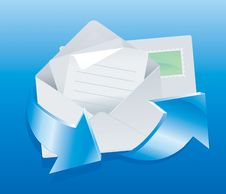 Free Mail Icon Royalty Free Stock Photography - 9992567