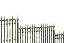 Free Metall Fence Royalty Free Stock Photography - 9992647