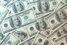 Free Dollars Background Royalty Free Stock Photography - 9992697