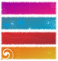 Free Colorful Banner Royalty Free Stock Photo - 9992855