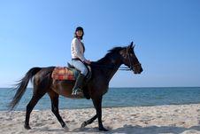 Free Beach Rider Royalty Free Stock Photos - 9993108