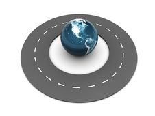 Free Road Around Earth Globe Stock Photos - 9993913