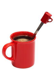 Red Mug From Coffee