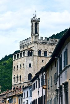 Free Historical Palace In Gubbio Royalty Free Stock Images - 9995019