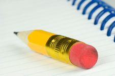 Free Short Pencil With Eraser Stock Photography - 9995732