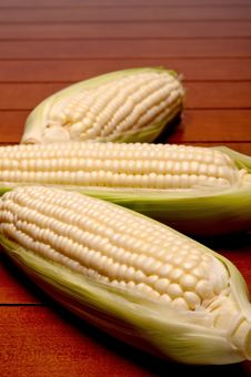 Free Close Up Of Three Cobs On Corn Royalty Free Stock Images - 9995849