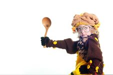 Free Girl With The Big Spoon Royalty Free Stock Images - 9997969