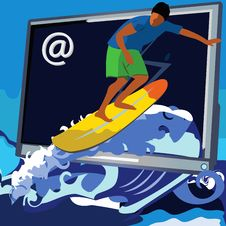 Web Surfer Stock Images