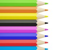 Free Colored Pencils Royalty Free Stock Photos - 9998928