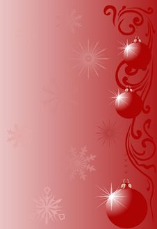 Free Background With Christmas Tree Decorations Royalty Free Stock Photography - 9999697