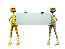 Free Dotted Figures With Blank Sign. Royalty Free Stock Image - 9999906