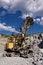 Free Yellow Excavator Royalty Free Stock Photography - 9991497